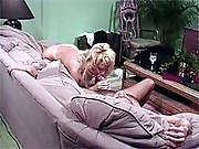 A retro office guy fucking banging hot chick