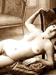 Really sexy and vintage babes posing on sofas