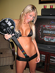 Midwest girl playing video games naked