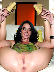 Smoking hot shaven pussy brunette gets her box drilled for the first time on cam in these hot fucking  pics