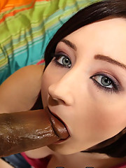 Tight girl dealing with a monster black schlong