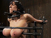 Alia Janine and her massive natural 34FF boobs! Bound and abused! Double FUCKING F