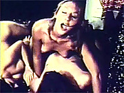 Two chicks playing with one dick threesome