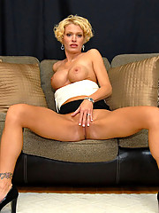 Watch three hot long leg big tits milfs finger fuck their pink in these hot 3some lesbian fucking pics