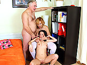 Old senior fart fucks young and horny chick