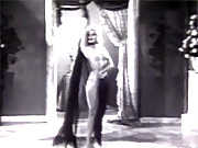 Horny and vintage sweetie dancing with a veil