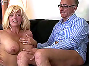 Old senior guy shagging a sexy willing slut
