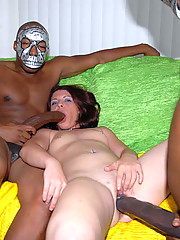 The nubian monarchs of meat descend upon another unfortunate slut and her ass may never be the same.