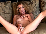Kelle Marie sticks a nice big toy in her pecker warmer