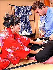 Bootyfull hot ass asian geisha takes a cock deep in her little box in these hot hard fucking pics