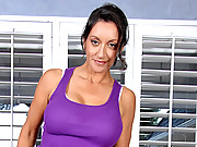 Classy Anilos milf stretches her naked body during a yoga routine