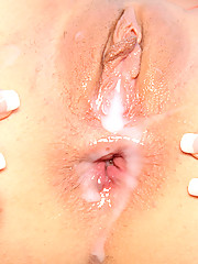 Horny guy creaming her tight chick asshole