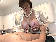 Milf asks younger guy for facial