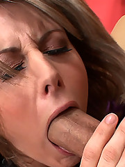 Gorgeous cougar slut takes a big cock in her mouth and gets pussy licked before she gets nailed