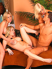 Smoking hot fucking 4 milfs share a mega cock in these hot fucking 4some group sex milf fucking pics