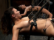 Two girls suffer though an intense BDSM live show.  All action happens live with no cuts!  Isis Love co-tops!