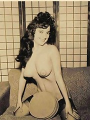 Busty vintage girls showing their own titties