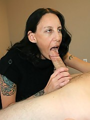 Hayden milks cock and gets blasted with jizz