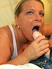 Mom seduced young guy and lets him cumshot all over her messy sloppy fucking face at cum blast city free pics and videos