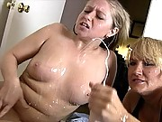 Breanna and Mom cumshot facial