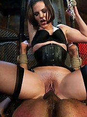 Bobbi Starr dominates and humiliates fresh manmeat and uses him as a tool for her own sexual gratification!