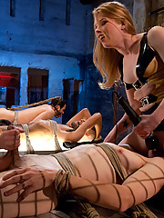 Three pathetic worms are milked and denied by cock milking machines with two evil bitches at the helm!