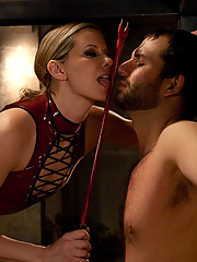 Maitresse Madeline effortlessly uses and abuses two pathetic worms LIVE all for her own pleasure!