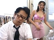 Naughty Maki strips at work and teases co-workers