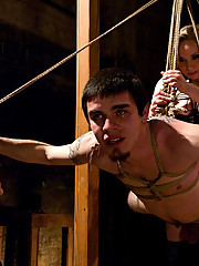 Maitresse Madeline and Aiden Star pit to pathetic worms against each other in the slaveboy Olympics LIVE!