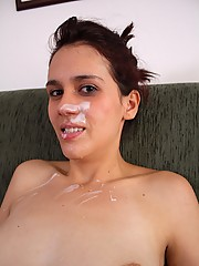 Horny latina skater chick fucked and jizzed