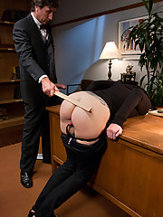 Tricia Oaks gets punished and fucked in bondage by professor.