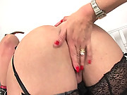 British BBW gets strap on fucked