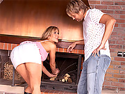 Sweetie anally banged by the fire by friend