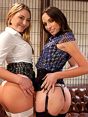 Amber Rayne and Aurora Snow all anal lesbian sex.