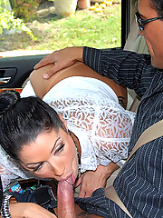 Check out mega hot ass stripper babe masterbate in the car then gets her box power drilled and cumfaced in this hot latina fucking picset