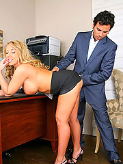 Check out stackd big tits office babe get licked and power fucked hard in these hot office fucking sucking pics