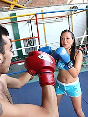 Very sexy boxing chick fucking her opponent