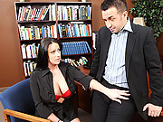 Slutty chick gets pounded by her boss