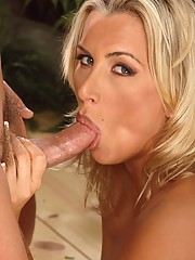 Farrah sucking cock and being fucked hard