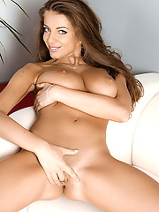 Monika Benjar whips her juggs out for some solo fun