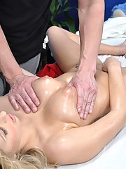 Blonde 18 year old gets fucked hard by her massage therapist