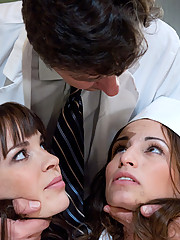 Slutty nurses humiliated by extreme anal sex and milk enemas!