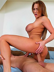 Well rounded girl gets a titty fuck