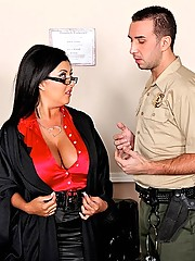 Busty judge gets horny during working hours