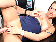 Carmen Mccarthy getting a lessong in big cock riding