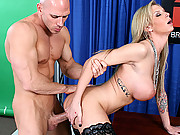 Big cock fucks a blond pussy at work