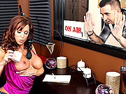 a big dick gets even bigger seeing Devon spilling hot wax on her tits