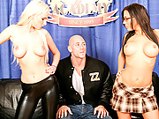 Two sluts alternate on a cock