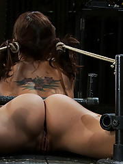 Hot MILF bound down, and fucked in the ass with a a machine until she cums!  Brutal DP!