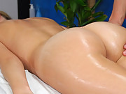 Check out these hot and slutty 18 year olds get fucked hard by their massage therapist